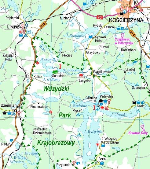Kościerzyna - Wąglikowice - Czarlina - Przytarnia - Raduń