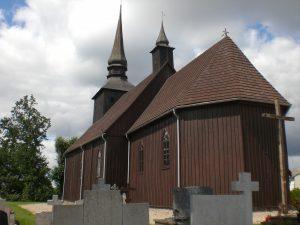 Borzyszkowy, kościół, źródło: By Gdaniec - Praca własna, CC BY-SA 3.0, https://commons.wikimedia.org/w/index.php?curid=19299872