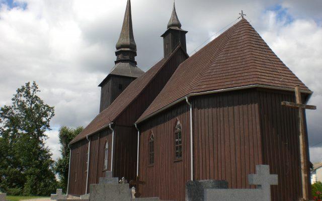 Borzyszkowy. Drewniany kościół z XVIII wieku