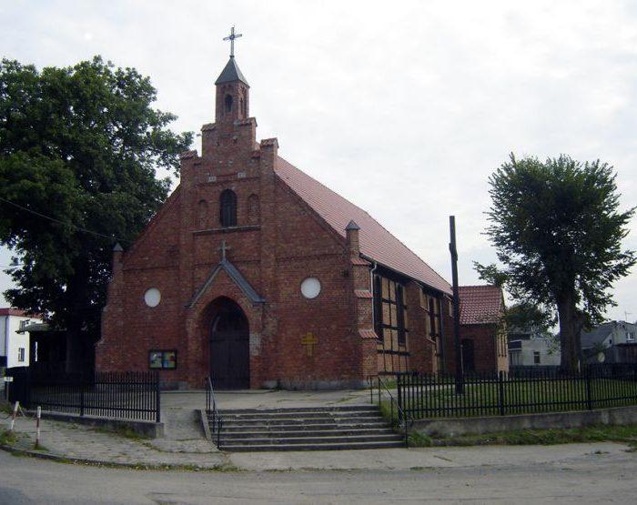 Borzytuchom. Kościół z XIX wieku