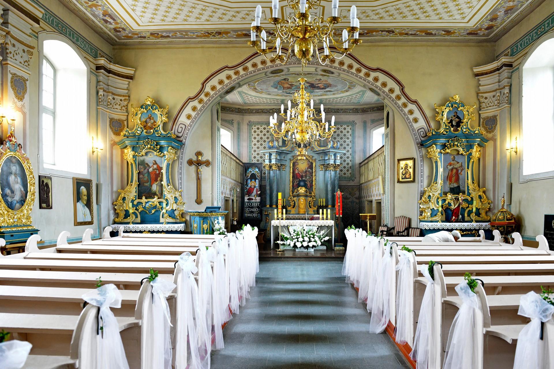 Garczyn, wnętrze kościoła pw. św. Andrzeja Apostoła Fot. Adam Szewczyk
