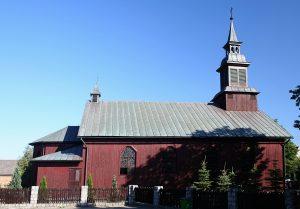 Karsin. Drewniany kościół pw. Matki Bożej Różańowej Źródło: Wikipedia.org Autor: Przykuta