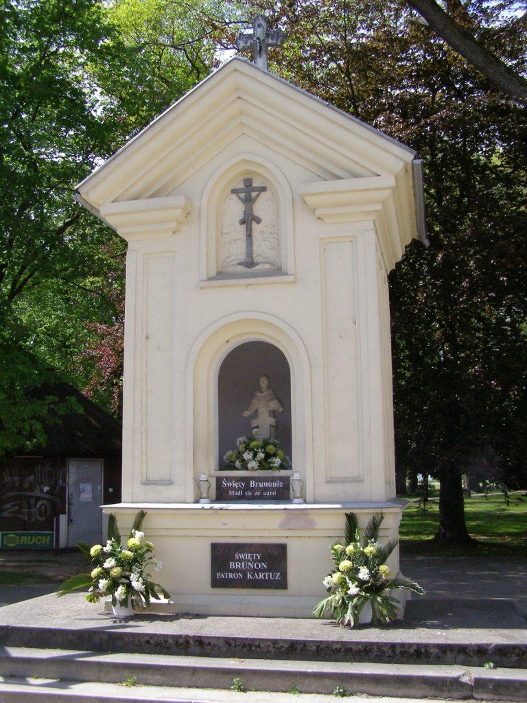 Kapliczka św. Brunona w Kartuzach Źródło: Wikimedia.org Autor: Andrzej Otrębski