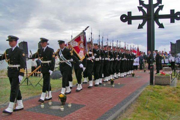 Rewa, Ogólnopolska Aleja Zasłużonych Ludzi Morza z Krzyżem Morskim na Cyplu Rewskim