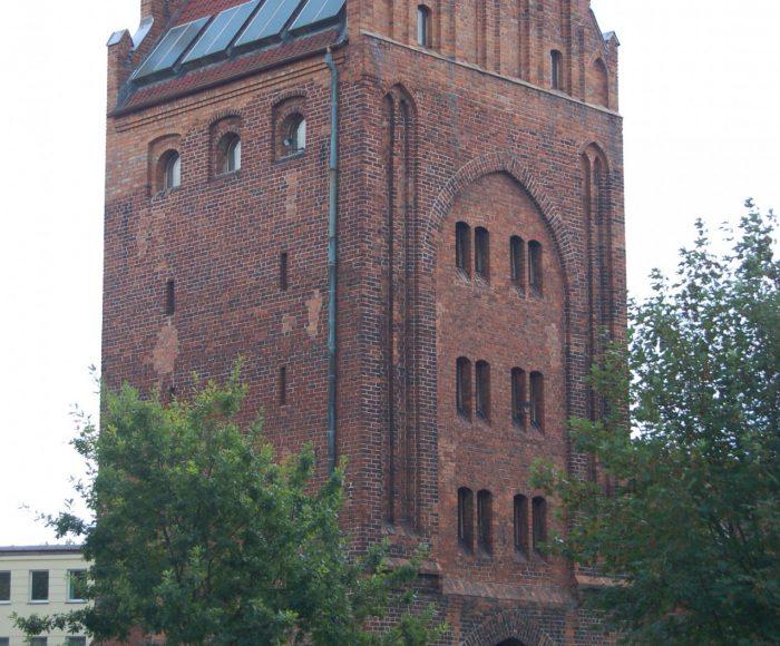Słupsk, Brama Młyńska. Fragment średniowiecznych murów obronnych