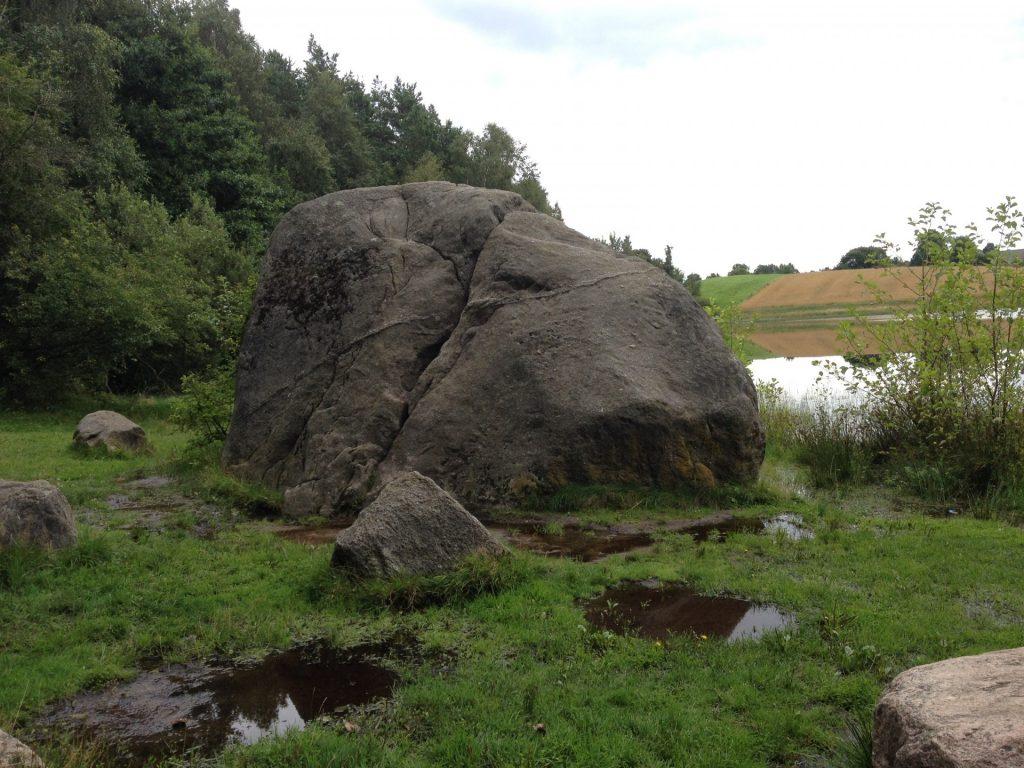 """Głaz narzutowy """"Diabelski Kamień"""" w okolicy Nowej Huty Autor: Lucyna Szomburg"""