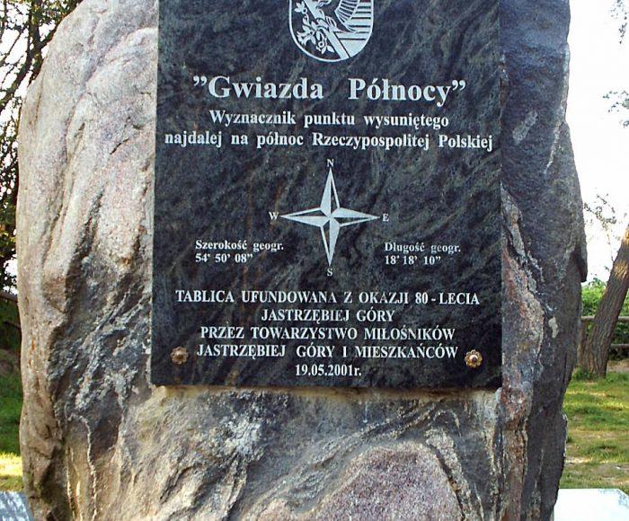 Jastrzębia Góra, Obelisk Gwiazda Północy. Na krańcu Polski
