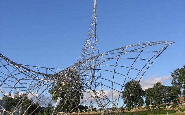 Sierakowice. Ołtarz papieski, wspomnienie wizyty Jana Pawła II