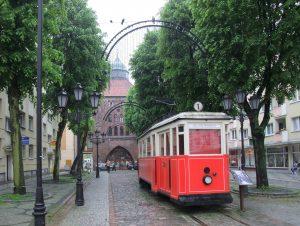 Zabytkowy tramwaj w Słupsku Źródło: Wikipedia.org Autor: Nikater