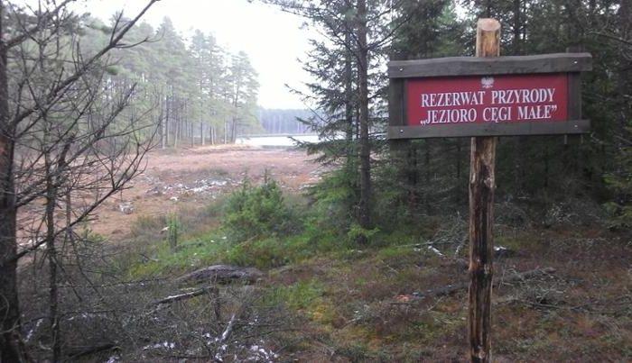 Człuchów i okolice. Rezerwat przyrody Jezioro Cęgi Małe 1