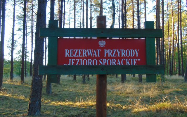 Człuchów i okolice. Rezerwat jeziora Sporackie i jeziora Bardze Małe 1