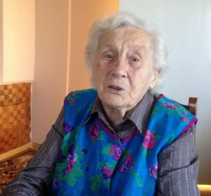 Pani Marta Mejer z domu Miotk ma dziś 98 lat. Fot. Lucyna Szomburg