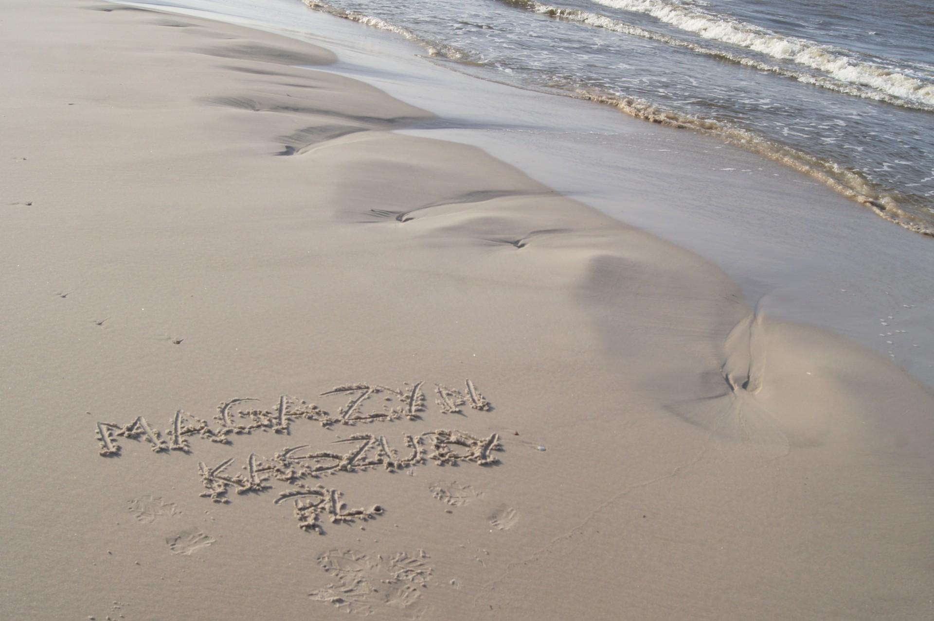 Łeba, plaża, październik 2016. Fot. Patrycja Momot/Magazyn Kaszuby