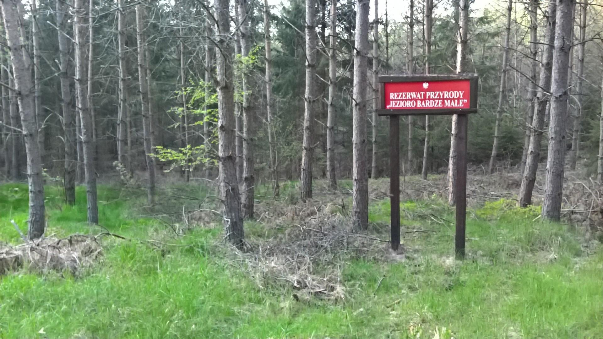Człuchów i okolice. Rezerwat jeziora Sporackie i Bardze Małe