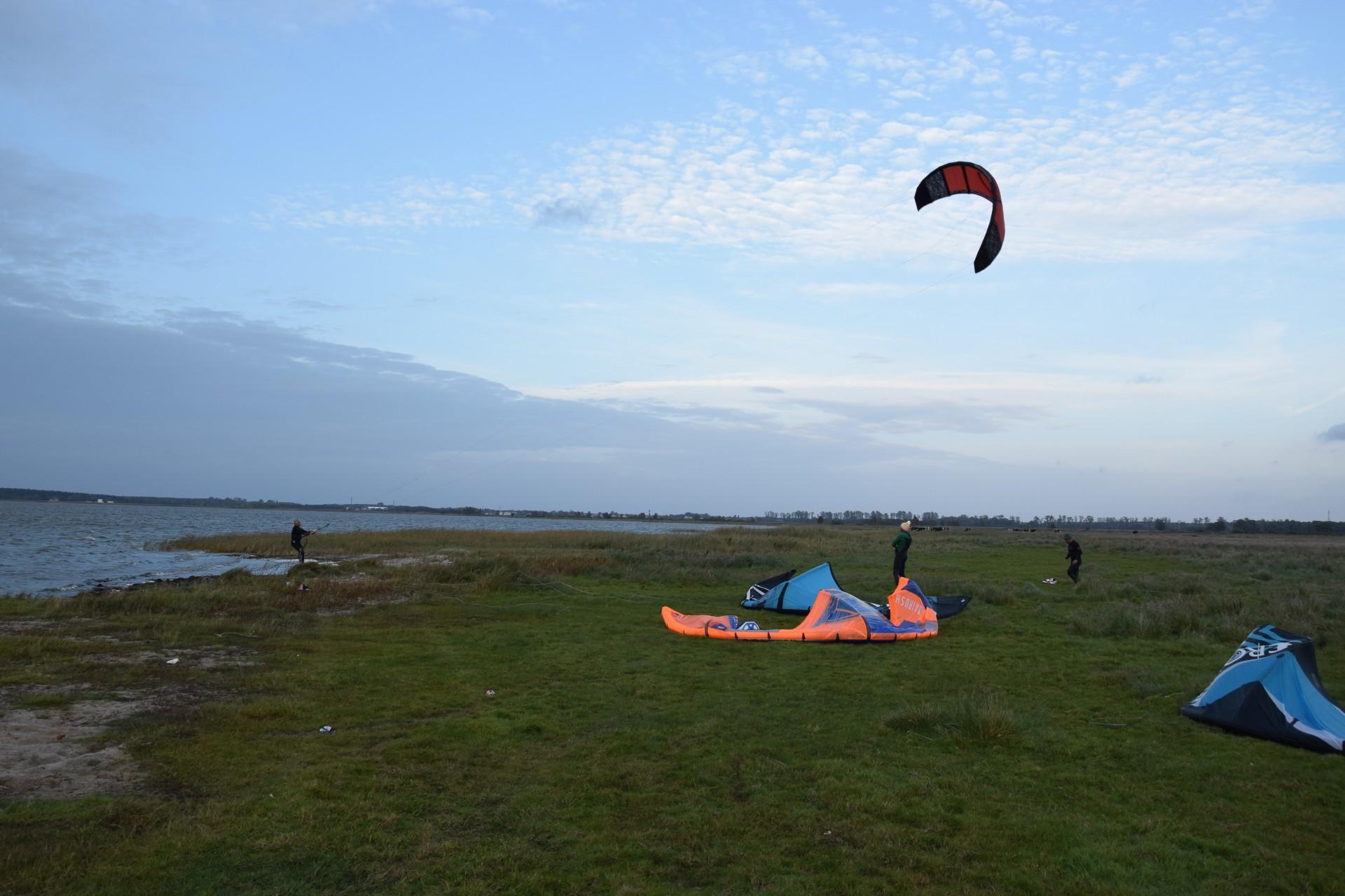 Żarnowska, Słowiński Park Narodowy, nielegalny kitesurfing