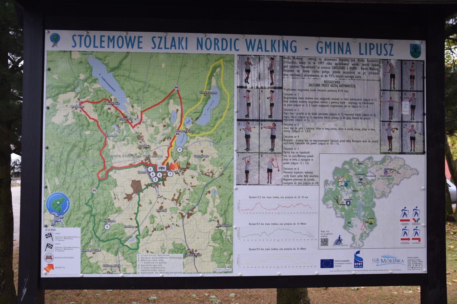 Stolemowe szlaki nordic walking Lipusz, źródło:Magazyn Kaszuby