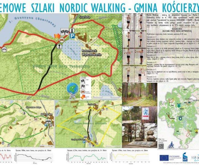 Gmina Kościerzyna. Stolemowe Szlaki nordic walking