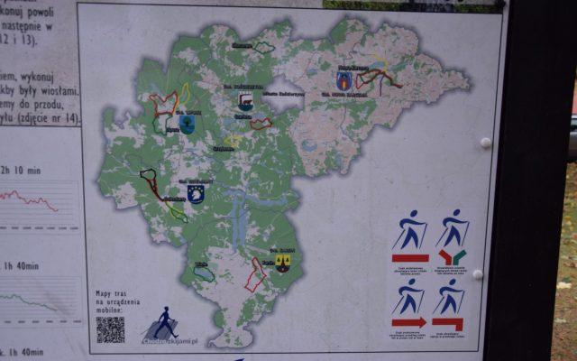 Gmina Nowa Karczma. Stolemowe szlaki nordic walking