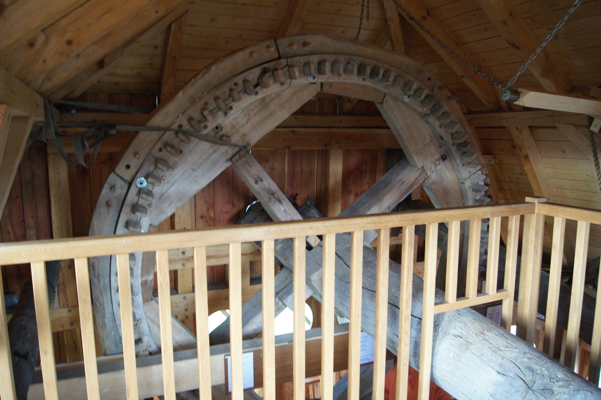 Wnętrze wiatraka na górze Sobótka. Fot. Patrycja Momot/Magazyn Kaszuby