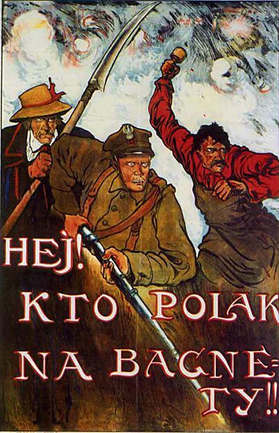 Bitwa Warszawska. Plakat nawołumący do wstępowania w szeregi polskiej armii. Źródło: zyciewarszawy.pl