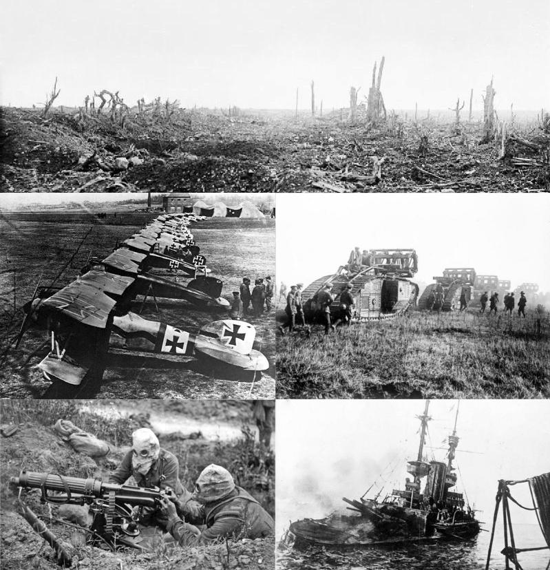 Kaszubi i Pomorzanie walczyli w mundurach armii pruskiej na wszystkich frontach I wojny światowej, Źródło: Montage for WWI article, Wikipedia