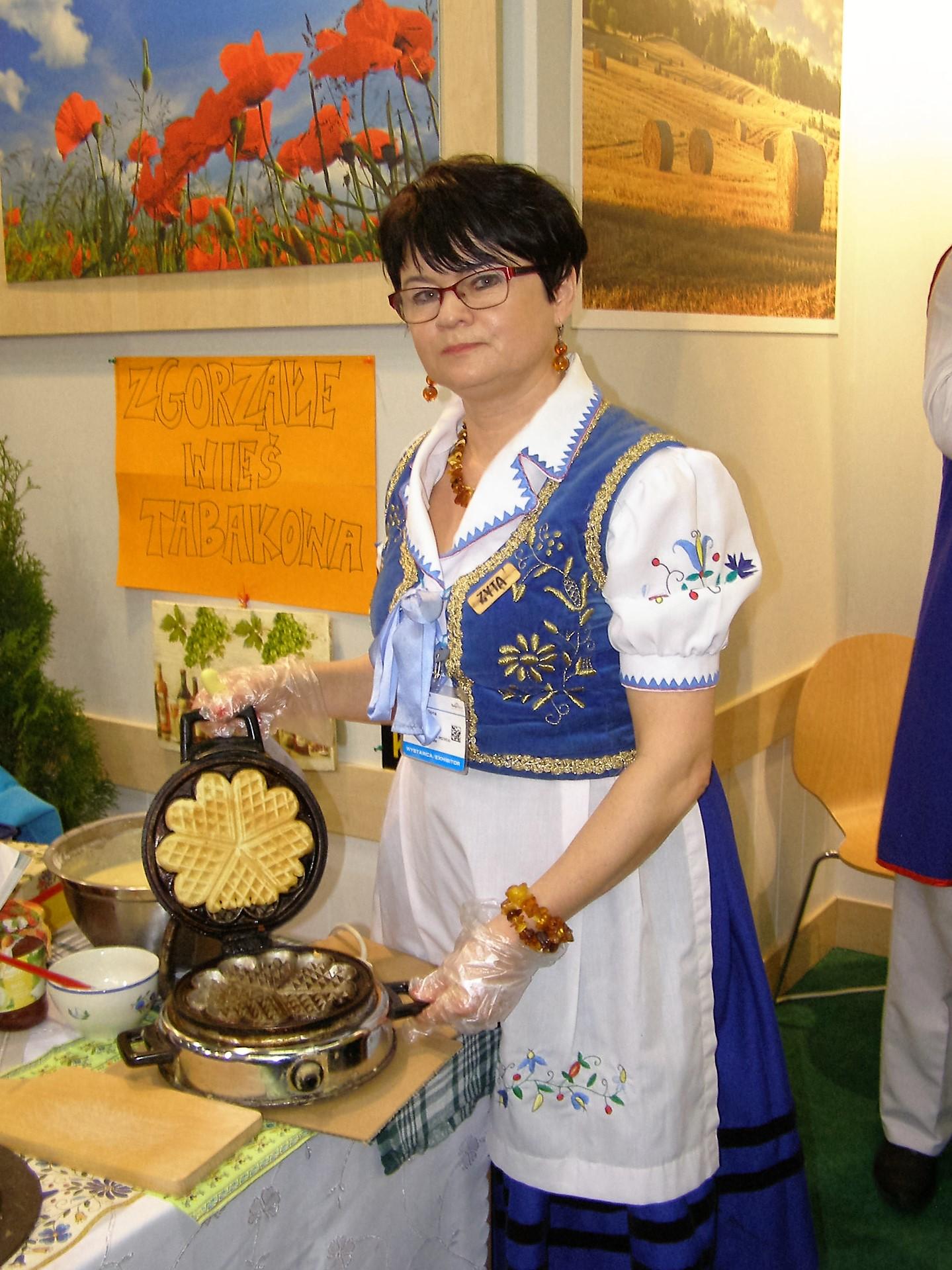 Zyta Górna podczas pokazu kulinarnego w Kielcach. Fot. archiwum prywatne