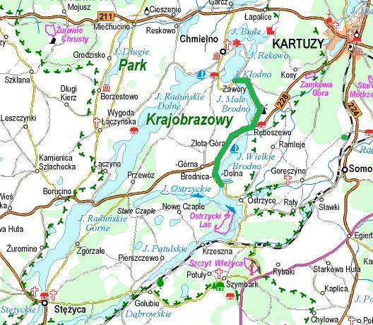 Trasa, która pokonał Aleksander Majkowski w 1913 roku. Źródło: www.ekokapio.pl