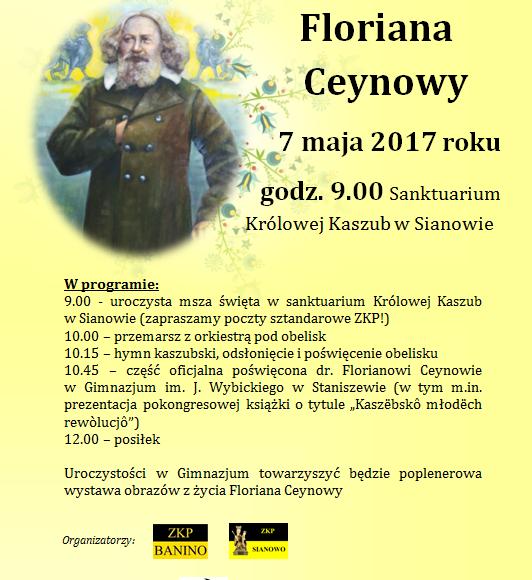 Obchody 200 rocznicy urodzin Floriana Ceynowy