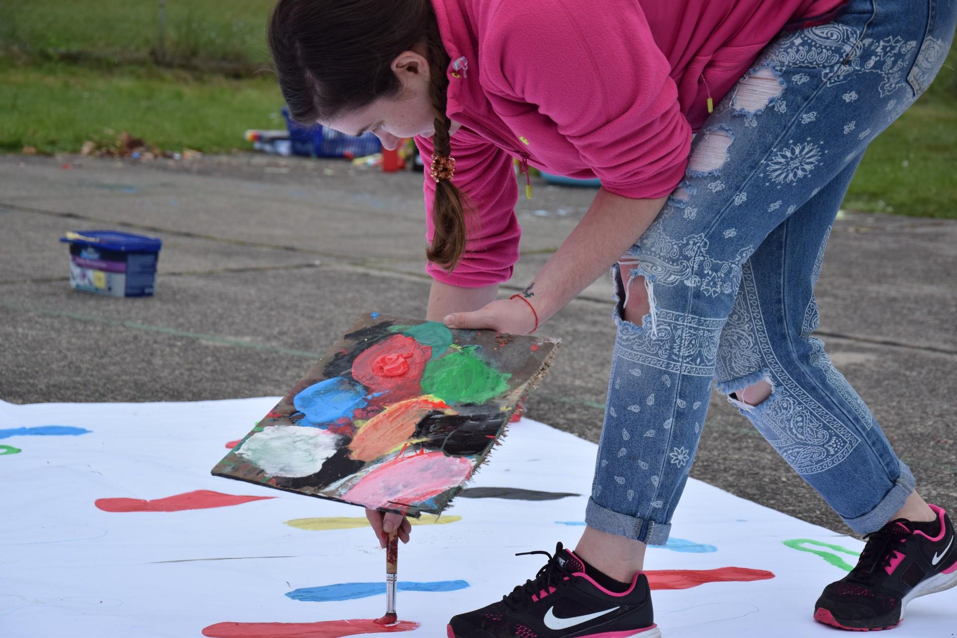 PrzyWIDZ Culture Camp Festival, 6 maja 2017. Malarstwo. Fot. Edyta Słomczyńska/Magazyn Kaszuby