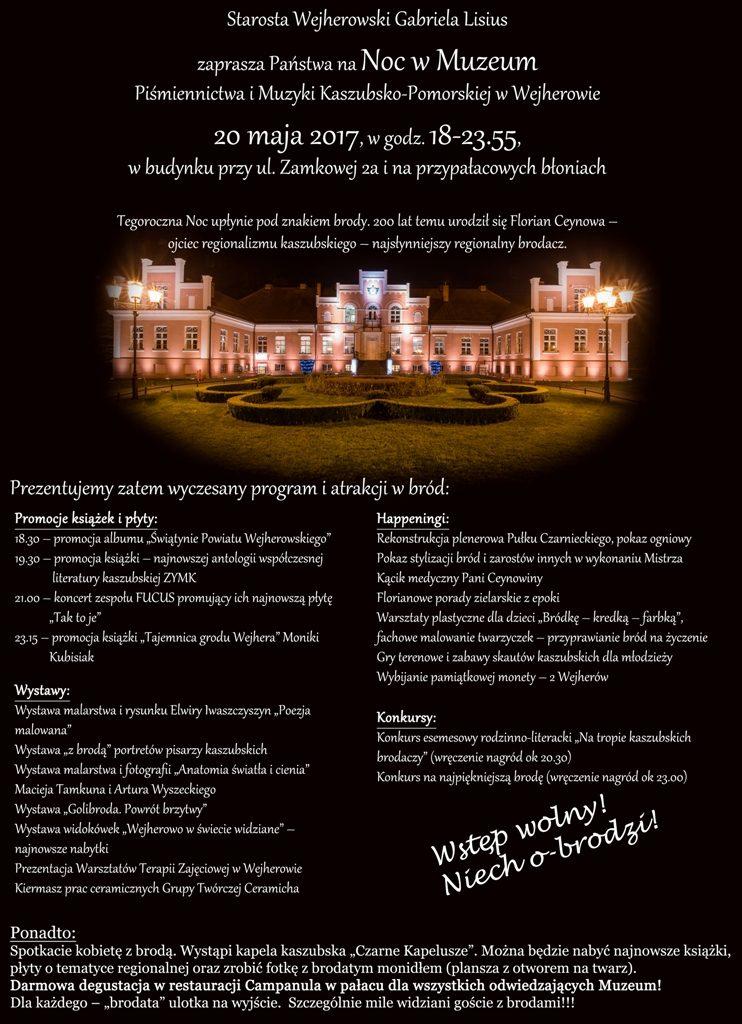 Noc w Muzeum Piśmiennictwa i Muzyki Kaszubsko-Pomorskiej w Wejherowie