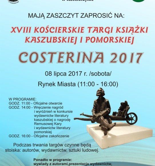 Costerina 2017 - XVIII Targi Książki Kaszubskiej i Pomorskiej w Kościerzynie