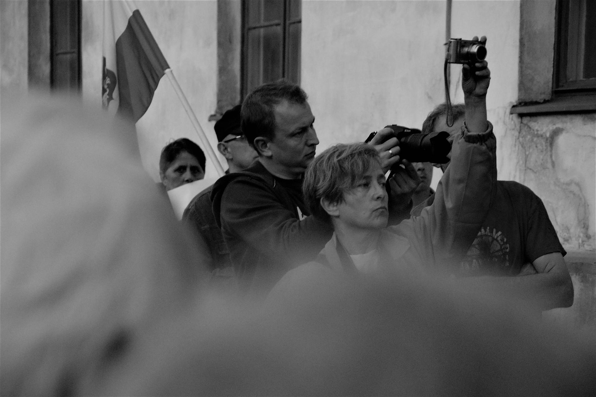 Protest w obronie sądów w Kartuzach [FOTOREPORTAŻ]