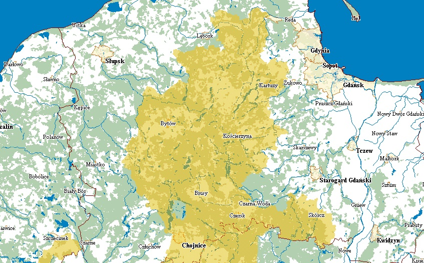 Zakaz wstępu do lasu na Pomorzu. Źródło: zakazywstepu.lasy.gov.pl