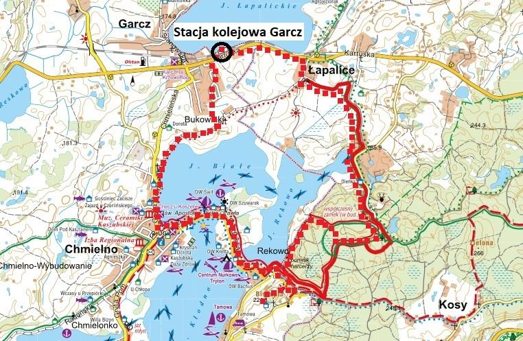 Linia kolejowa Kartuzy - Sierakowice. Okolice Garcza. Źródło: Stowarzyszenie Turystyczne Kaszuby