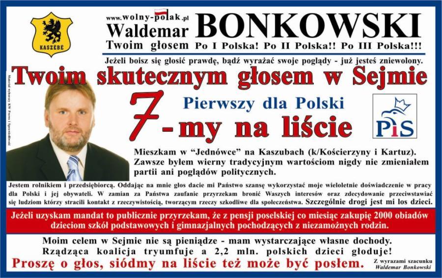 Senator Bonkowski, chamstwo, Kaszubi [FELIETON] 1