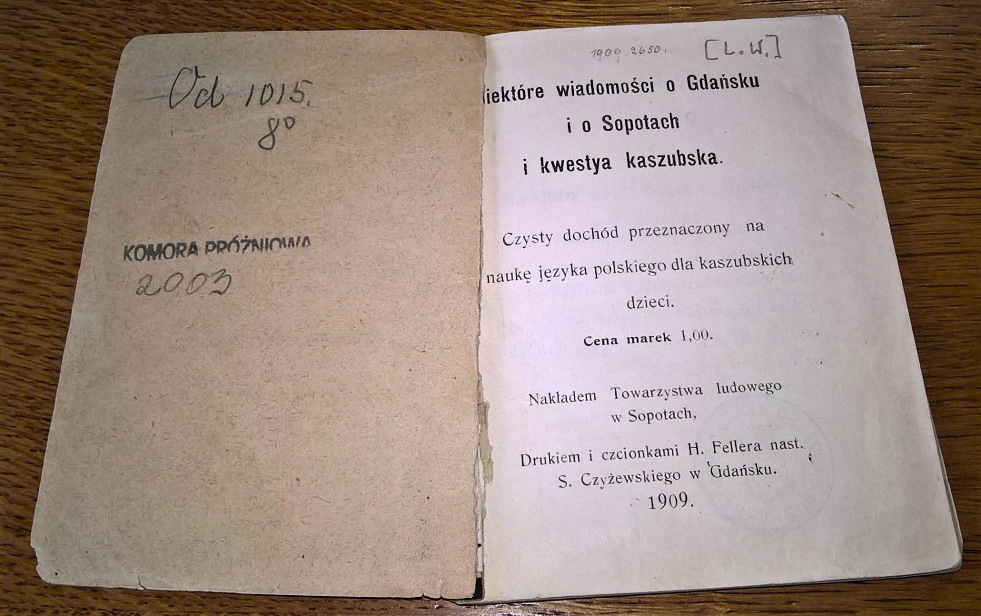 Sopot 1909. Miasto kaszubskie 6