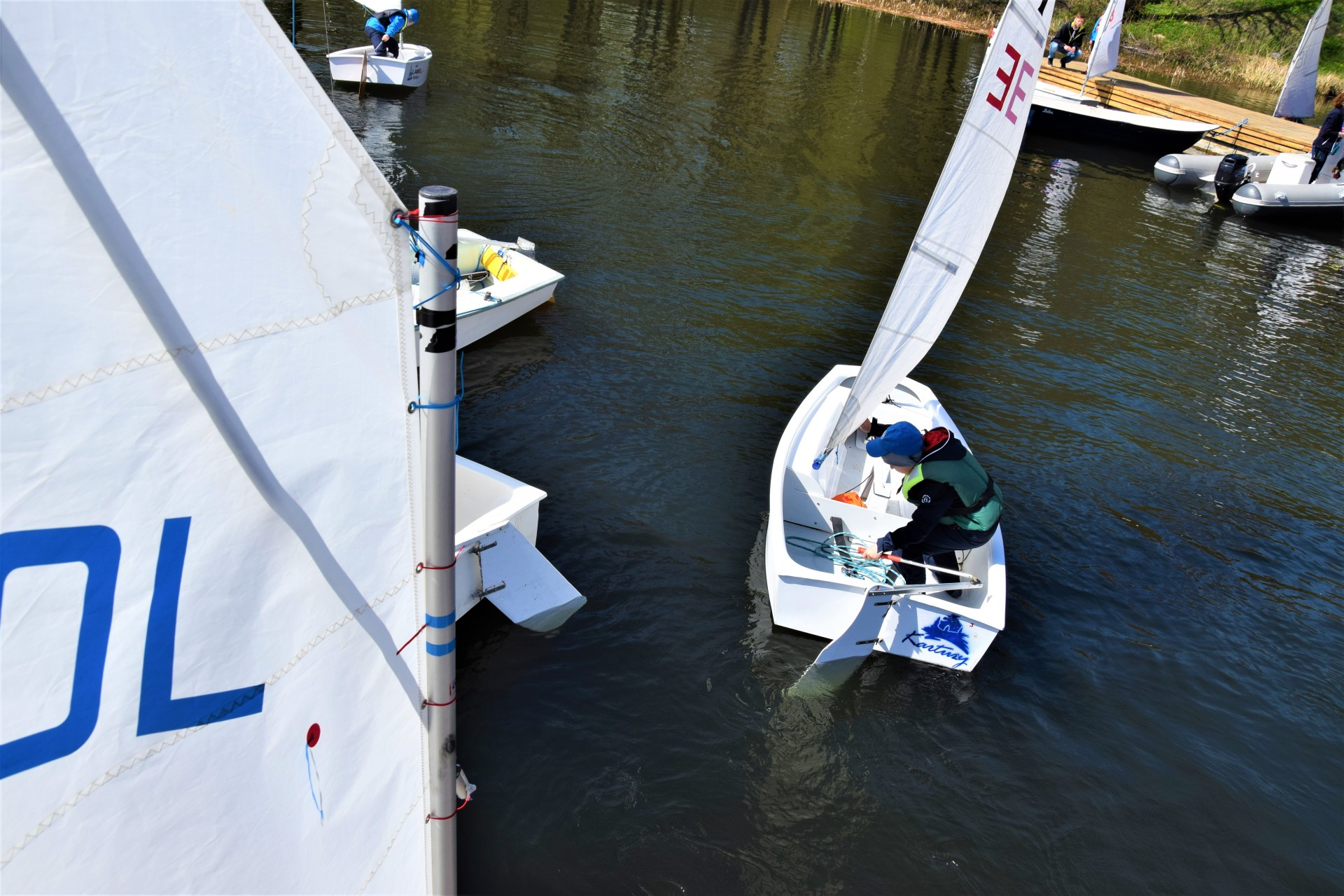 Żagle na Kaszubach. Dzieciaki na łódkach [FOTOREPORTAŻ] 2