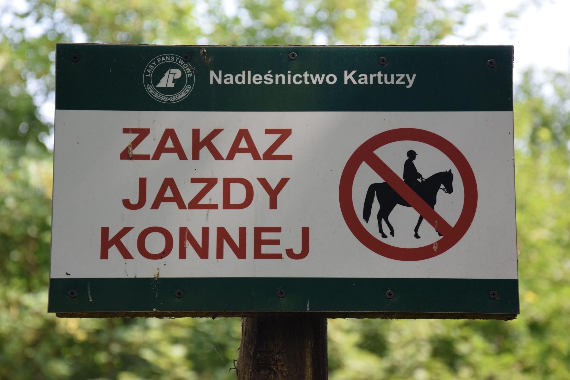 Zakaz jazdy konnej w Konnej Stolicy Polski