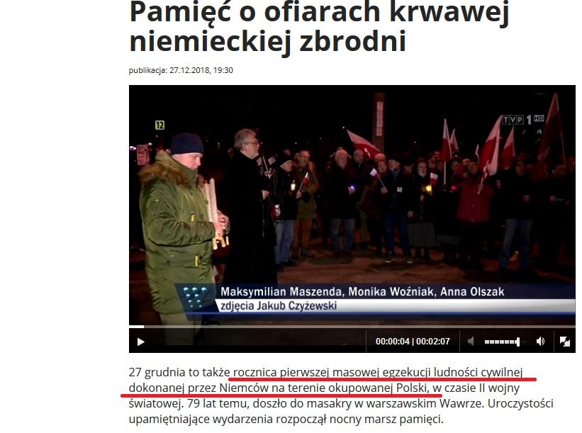 Nieścisłość w materiale Wiadomości TVP 1